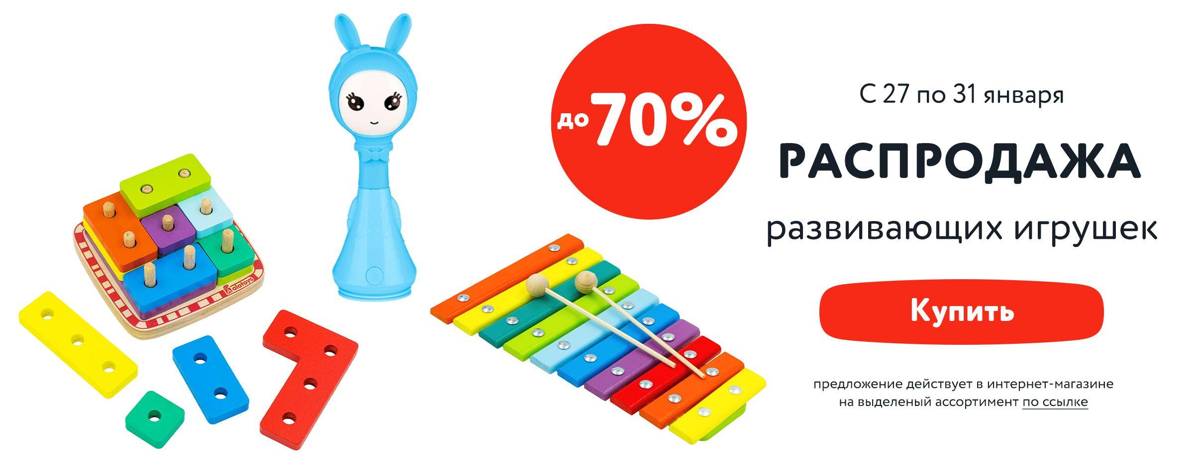 Распродажа развивающих игрушек С